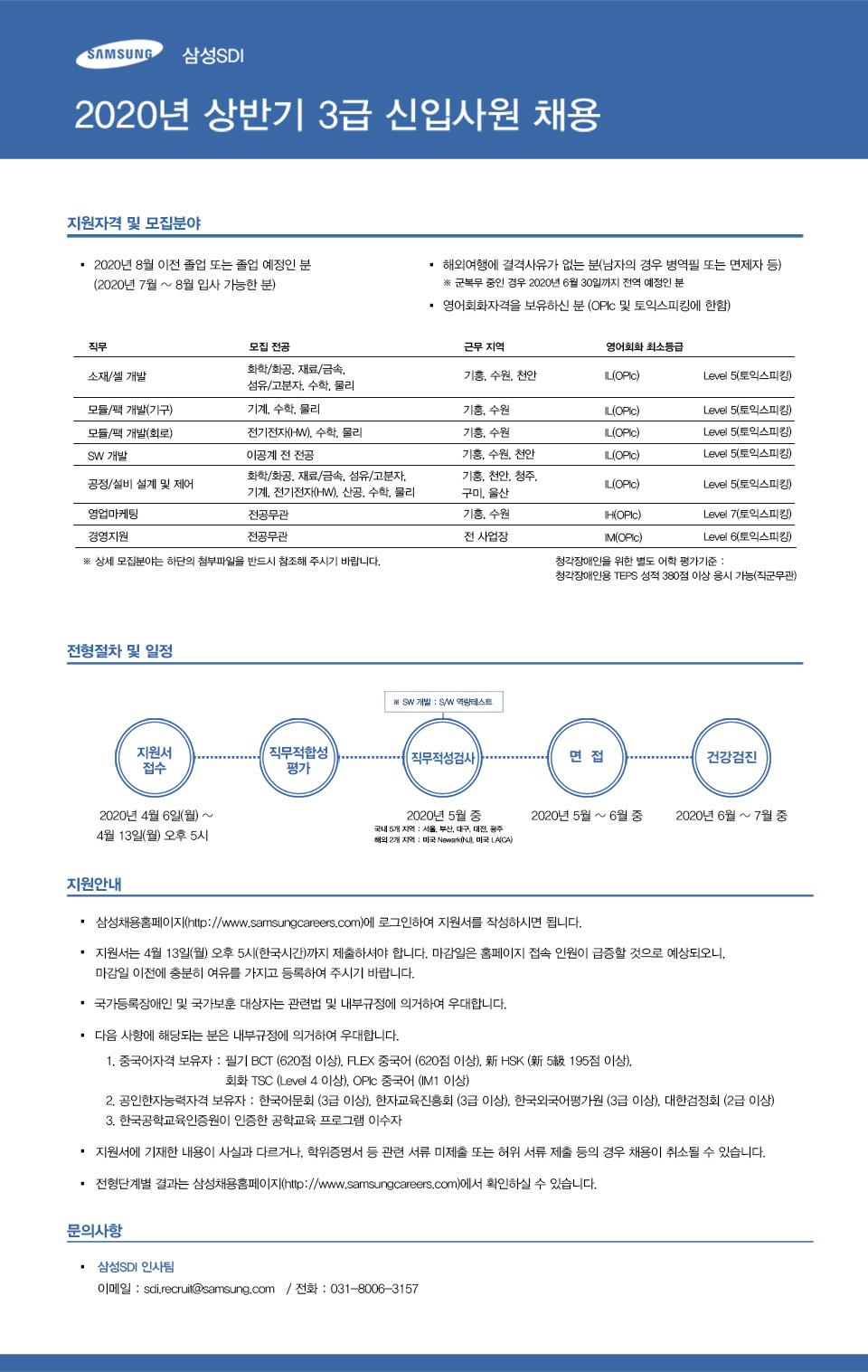 삼성SDI 2020년 상반기 3급 신입사원 채용.jpg